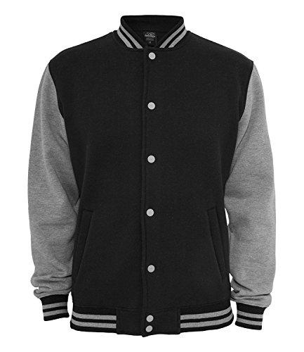 Ethno Designs Southside - Hot Rod College-Jacke für Damen und Herren - Old School Rockabilly Retro Style, navy/sportsgrey, Größe XL