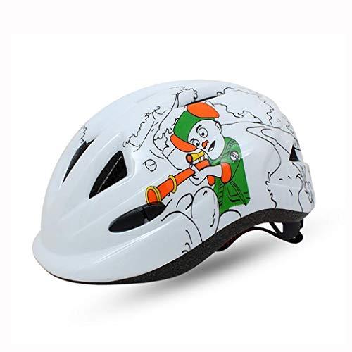 IIRDIAN Sturzhelmfahrradkarikaturreitsturzhelm-Sturzhelm der Kinder Sportausrüstung (Farbe : Weiß)
