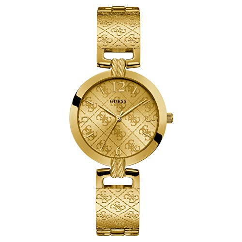 hr 35mm Armband Edelstahl Gold + Gehäuse Batterie W1228L2 ()