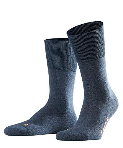 FALKE Run Ergo Unisex Baumwoll Strümpfe Einfarbig 1 Paar Freizeit Sport Socken, Blickdicht, Navyblue M, 39-41 -