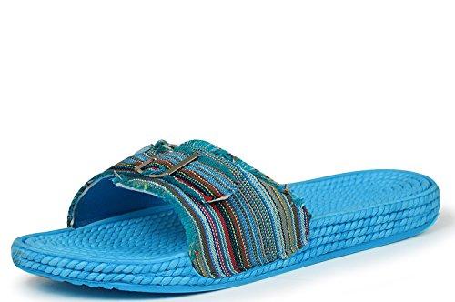 Siebi's - Ciabatte Donna Blu (Blu/Multicolore)