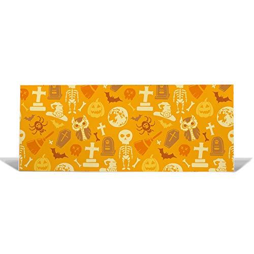 ttafel 75x30cm groß | Memoboard mit Magneten | Metall Pinnwand magnetisch | Magnetboard mit Motiv Halloween | Magnetwand für Küche, Büro oder Kinderzimmer ()