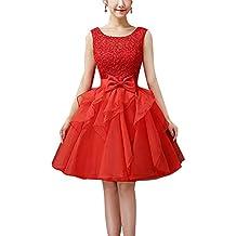 Vestido Corto Para Mujer De Fiesta Floral Con Arco Cintura De Novia Coctel Vestido
