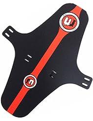 Mucky Nutz Bender cara guardabarros XL para bicicleta de montaña frontal–Guardabarros para bicicleta, color negro/rojo