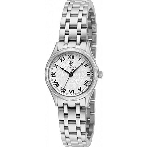 S Coifman SC0340 Ladies Silver Steel Bracelet Watch