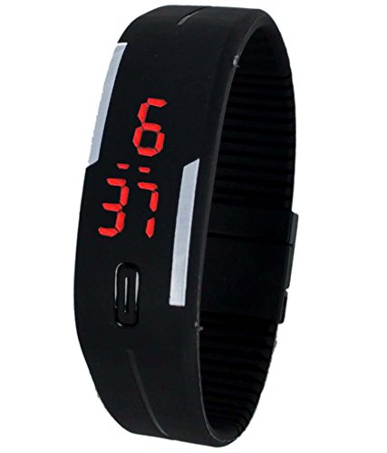 Sky Mart New Arrival Special Collection Black Color Unisex Silicone Digital LED Band Wrist Watch for Boys, Girls, Men, Women