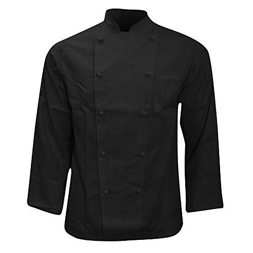 Karlowsky - Casacca Doppio Petto da Chef - Unisex (M) (Nero)