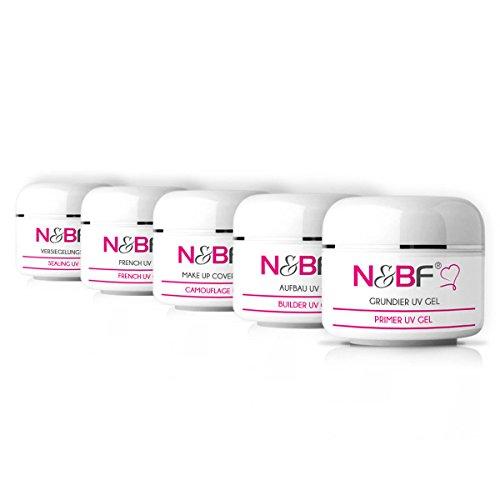 Set complet de gels UV manucure pour Nail Art - 5 gels