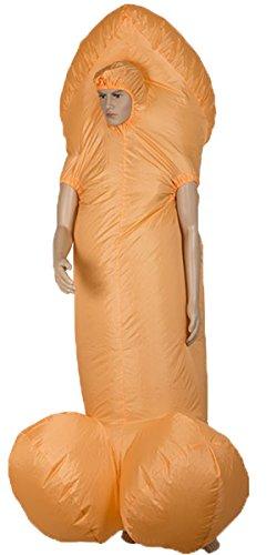 Bada Bing Aufblasbares Kostüm WILLY Inkl. Gebläse One Size Kostüm Verkleidung Karneval JGA ()