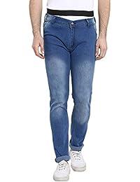 Urbano Fashion Men's Light Blue Slim Fit Stretch Jeans