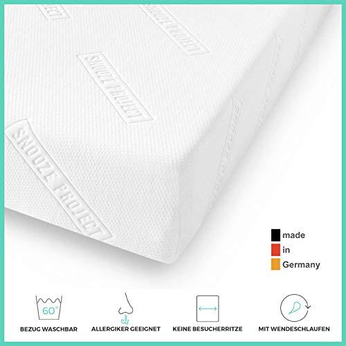 Snooze Project Essential Matratze 150 x 200 cm - Härtegrad H2 H3 Mittel-Hart - Kaltschaum RG 30 Schaumstoff - Allergiker-geeignet und Öko-Tex 100 zertifiziert - 100 Tage Probeschlafen