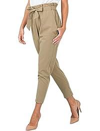 ff939f8de5e29 StyleDome Femme Pantalon Taille Haute Casual Jambière Slim Crayon Jeggings  Bowknot