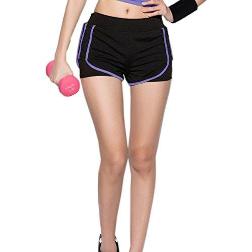 Dames Sport Ajustement Serré Yoga Pantalon Stretch purple