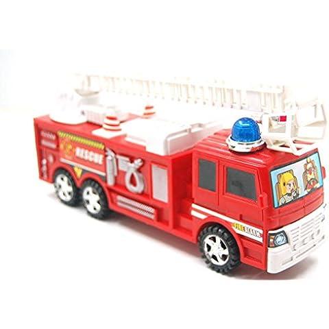 Pyrty (TM) de pl¨¢stico rojo de simulaci¨®n lucha contra el fuego del carro inercia modelo de juguete para los ni?os jugar al juego Guardar seguro de coches de juguete para el cabrito
