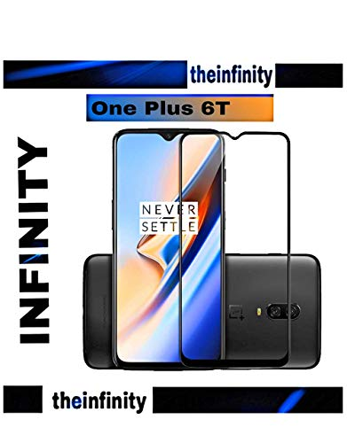 SuperdealsForTheinfinity Original Full Glue Edge-to-Edge Infinity Tempered Glass Screen Protector for OnePlus 6 (Black)