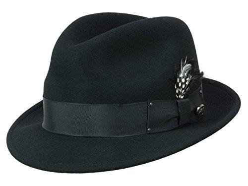 Bailey Homme Chapeau Trilby Tino noir L/58-59