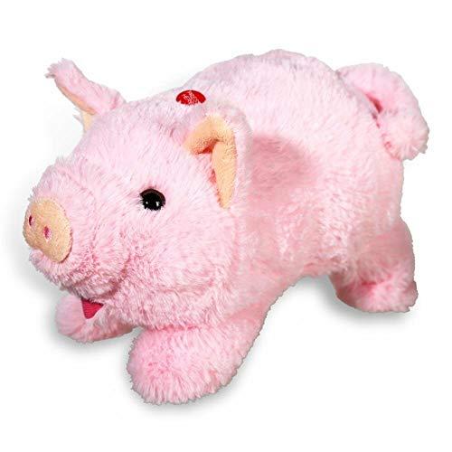 Monsterzeug Plüschtier mit Soundeffekt Schwein, Grunzendes Plüschschwein, Sprechendes Kuscheltier, Spielzeug, Geschenk für Kinder, Kindergeburtstag, Batteriebetrieb, Rosa
