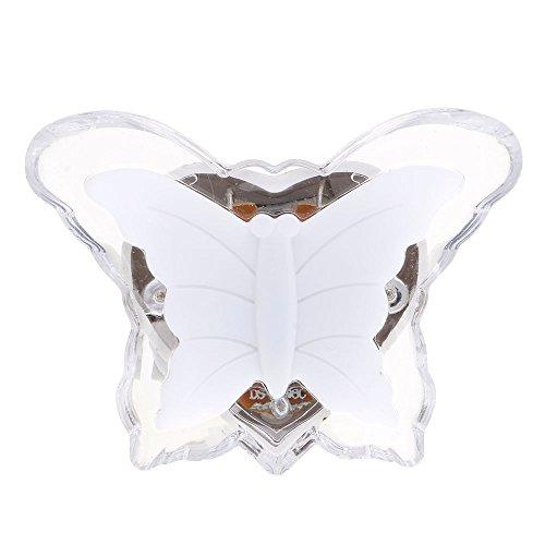 VANKER Fiche EU Charmant Papillon Blanc LED Économie d'énergie Veilleuse Applique Lampe de Nuit
