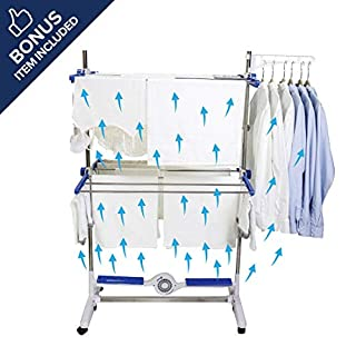 High Street TV Nubreeze Cool Air Drying System - Indoor Clothes Airer Rack With Breeze Bar Technology - Quick Dry & Foldable For Easy Storage