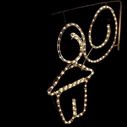 Beleuchtetes Haus 50x54cm / warmweiss / Innen & Außen / Lichterschlauch Lichtschlauch Lichterkette Weihnachten