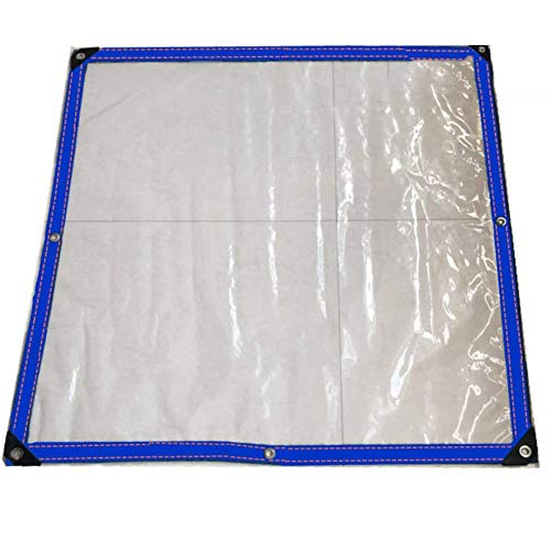 Preisvergleich Produktbild ZYB Plane Gewebeplane Abdeckplane Polyethylen Abdeckung Staubdicht Eckschlag Reißfest Faltbar Draussen,  100 G / ,  Dicke 0, 12 Mm (Farbe : Klar,  größe : 3x3m)