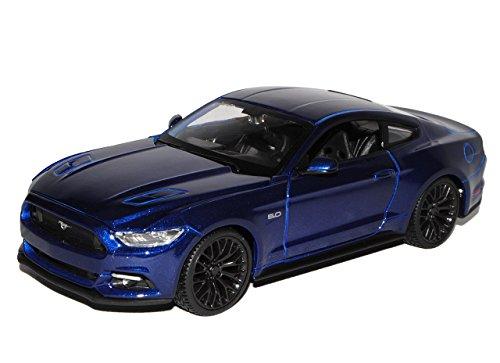 ford-mustang-vi-coupe-blau-ab-2014-1-24-maisto-modell-auto