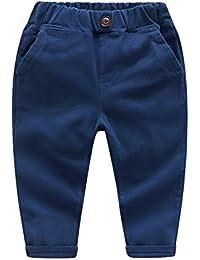 CHIC-CHIC Pantalons Enfant Sport Casual Fashion Trending Long avec 2 Poches Plaquées sur Côtés Confort Souple