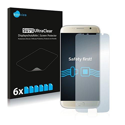 Savvies Schutzfolie kompatibel mit Bluboo Edge (6 Stück) - ultraklare Bildschirmschutz-Folie