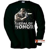 Camiseta Medal of Honor manga larga (Zoom) (Talla: Talla XL Unisex Ancho/Largo [58cm/76cm] Aprox], Color: Negro) - Cosmética y perfumes - Comparador de precios
