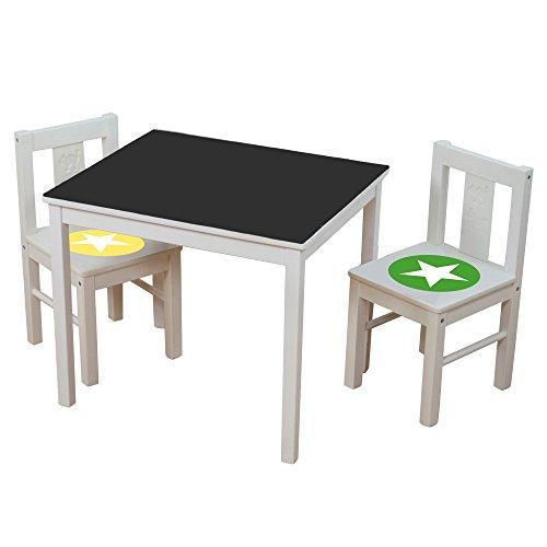 Limmaland Kreidefolie Ideenreich passend für deinen IKEA KRITTER Kindertisch (Farbe Grün/Gelb) - Möbel Nicht inklusive