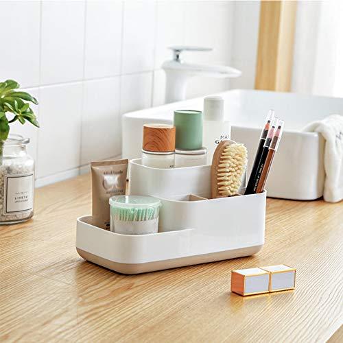 HGRCE Aufbewahrungsboxen Kunststoff Makeup Organizer Bad Aufbewahrungsbox Cosmetic Organizer Büro Desktop Abnehmbare Grid Makeup Schmuck Aufbewahrungsbox -