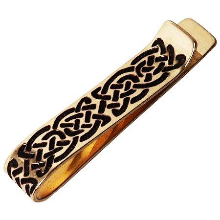Handcrafted ottone inciso, Celtic Knot, Moda Money o clip di legame, Simboleggia Eternity