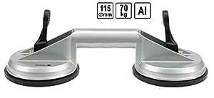 Ventouse de levage double en aluminium 2 X 115 mm