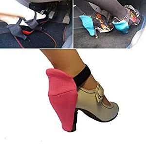 Shoe Heel Protector für Frauen zum Fahren für scheuerfreie Stilettos Schuhe Absätzen Kratzprävention Schuhretter Perfekt für Frauen Rosa Blockabsatz