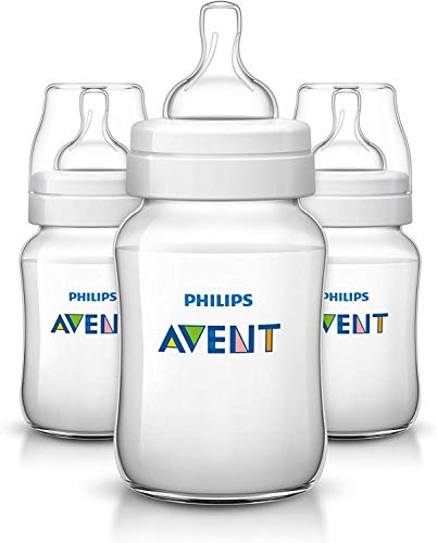 Philips Avent Klassik+ Flasche SCF563/37, 260ml, 3er Pack, transparent