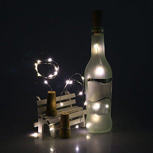 LED-Lichterkette mit 10 LEDs, für Dirance Flaschen, Kork, Kupferdraht, für Festivals, Partys, Hochzeiten, Mädchen, Schlafzimmer Modern R Cool White-10 (Dollar Mädchen Artikel)