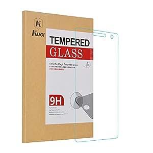 ASUS zenfone 2 ZE550ML / ZE551ML Glass Screen protector, KuGi Ultra-thin 9H Hardness High Quality HD clear Premium Tempered Glass Screen Protector for ASUS zenfone 2 ZE550ML / ZE551ML smartphone (1 pcs)