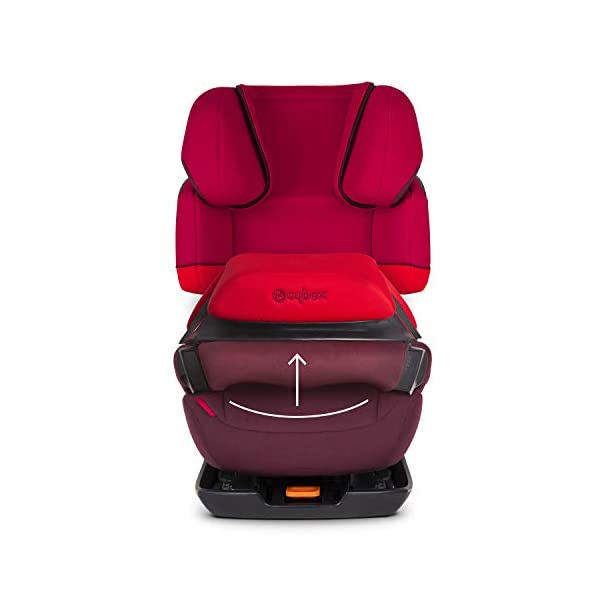 CYBEX Silver Pallas-Fix 2-in-1 Child's Car Seat, For Cars with and without ISOFIX, Group 1/2/3 (9-36 kg), From approx. 9 Months to approx. 12 Years, Rumba Red Cybex Sturdy and high-quality child car seat for long-term use - For children aged approx. 9 months to approx. 12 years (9-36 kg), Suitable for cars with and without ISOFIX Maximum safety - Depth-adjustable impact shield, 3-way adjustable reclining headrest, Built-in side impact protection (L.S.P. System) 11-way height-adjustable comfort headrest, One-hand adjustable reclining position, Easy conversion to Solution X-Fix for children from 3 years (group 2/3) by removing impact shield and base, Adjustable backrest 2