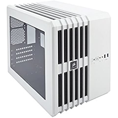 Corsair Carbide Series Air 240 - Caja de ordenador de alto rendimiento mATX/Mini-ITX con ventana, blanco
