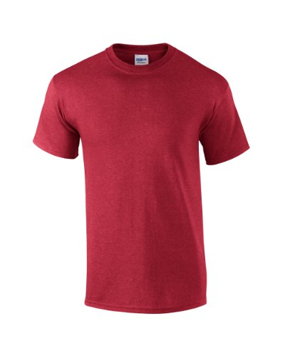Gildan Ultra Cotton TM Adult T-Shirt Heather Kardinal L - Kardinäle Polyester