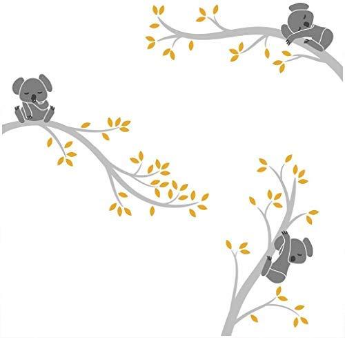 Bdecoll Autocollant mural Koala arbre---Décor moderne de nursery-pour chambre d'enfants/bébés...