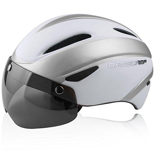 A-Best Fahrradhelm,CE-Zertifikat, Fahrradhelm mit Abnehmbarer Schutzbrille Visor Shield für Männer Frauen Mountain & Road Fahrradhelm Einstellbarer Sicherheitsschutz