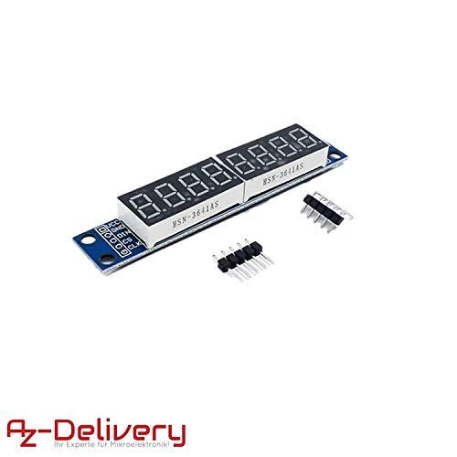AZDelivery ⭐⭐⭐⭐⭐ MAX7219 Led Modul 8 Bit 7-Segmentanzeige LED Display für Arduino und Raspberry Pi