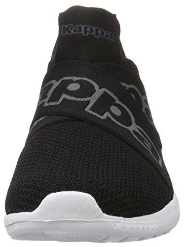 Kappa Unisex-Erwachsene Faster Ii Sneaker Schwarz (Black/Grey)