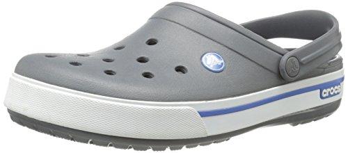 Crocs Crocband II.5 Unisex - Erwachsene Clogs Schwarz (Charcoal/Sea Blue)