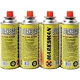 4 BUTANE GAS BOTTLES CANISTER CAMPING HEATER COOKER BBQ 4 PACK