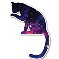 "Cat Sticker Galaxy Stickers - Laptop Stickers - 2.5"" Vinyl Decal - Laptop, Phone, Tablet Vinyl Decal Sticker S1245"