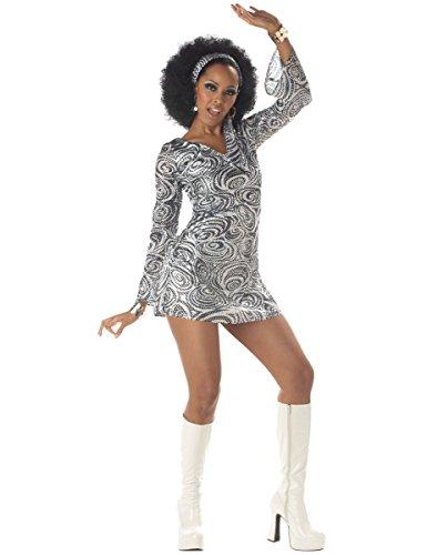 va Outfit für Damen XL (70er Disco Kostüm)