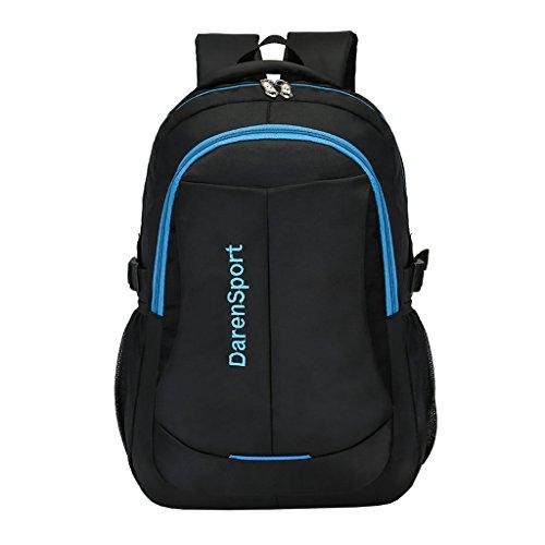 Medium Rucksack Schule (Super Modern Unisex Nylon Schule Rucksack 43,2cm Laptop Tasche Wandern Rucksack Cool Sports Rucksack College Student Rucksack Medium blau)