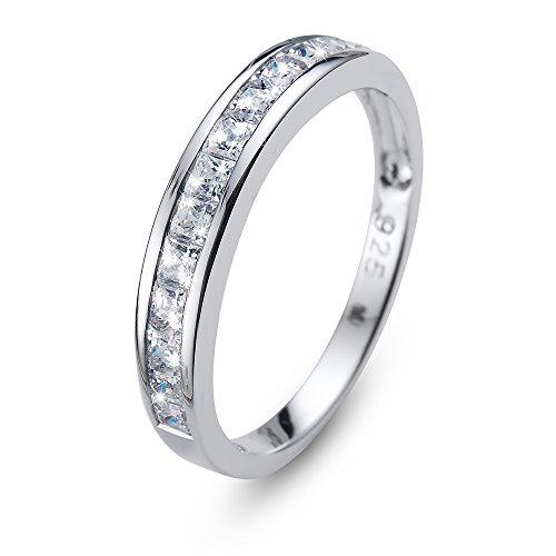 64b844a8bff28 Oliver Weber Anello foursquare 925 AG Rhod. cz Crystal with Crystals From  Swarovski Finger gioielli per donna e ottone, 58 (18.5), colore: rodiato,  ...